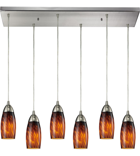 ELK Lighting Milan 6 Light Pendant in Satin Nickel 110-6RC-ES photo