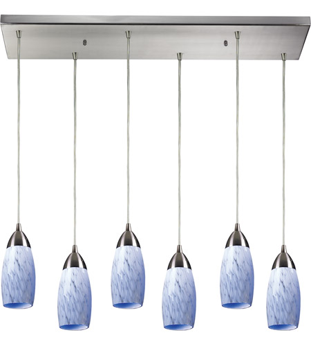 ELK Lighting Milan 6 Light Pendant in Satin Nickel 110-6RC-SW photo