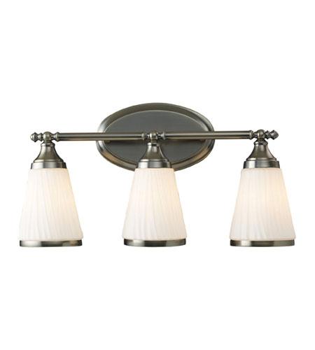 elk 11032 3 brussels 3 light 22 inch antique brass bath bar wall light. Black Bedroom Furniture Sets. Home Design Ideas