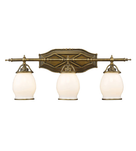 ELK Lighting Williamsport 3 Light Vanity in Vintage Brass Patina 11042/3 photo