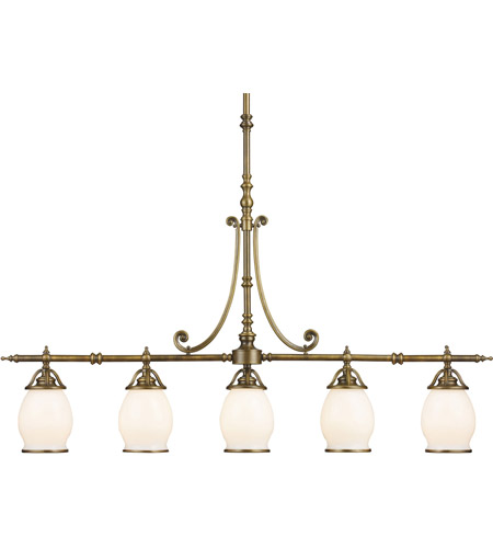 ELK Lighting Williamsport 5 Light Island Light in Vintage Brass Patina 11047/5 photo