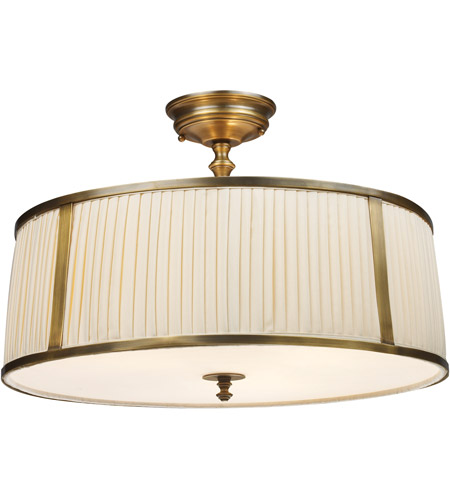 ELK 11055/4 Williamsport 4 Light 20 inch Vintage Brass Patina Semi-Flush Mount Ceiling Light in Standard photo