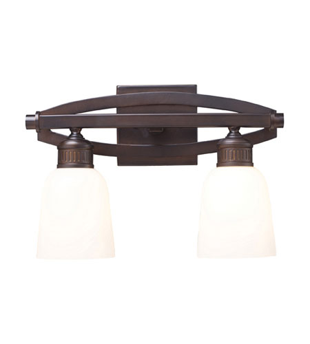 ELK Lighting Zulle 2 Light Bath Bar in Aged Bronze 11061/2 photo
