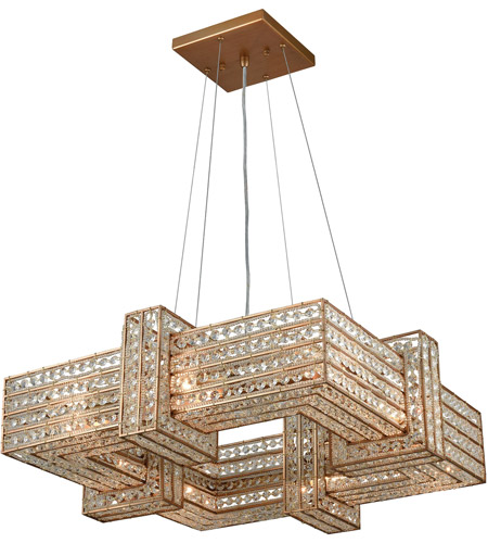 Elk 111258 lexicon 8 light 25 inch matte gold chandelier ceiling light mozeypictures Choice Image