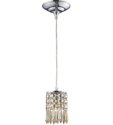 ELK Lighting Optix 1 Light Pendant in Polished Chrome 11208/1 photo