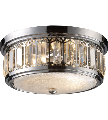 ELK 11226/2 Signature 2 Light 13 inch Polished Chrome Flush Mount Ceiling Light photo