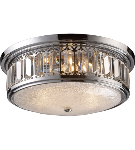 ELK Lighting Signature 3 Light Flush Mount in Polished Chrome 11227/3 photo