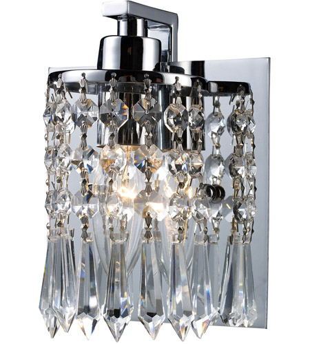 ELK 11228/1 Optix 1 Light 5 inch Polished Chrome Vanity Wall Light photo