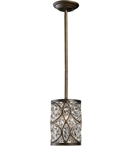 elk amherst 1 light 6 inch antique bronze pendant ceiling light - Bronze Pendant Light