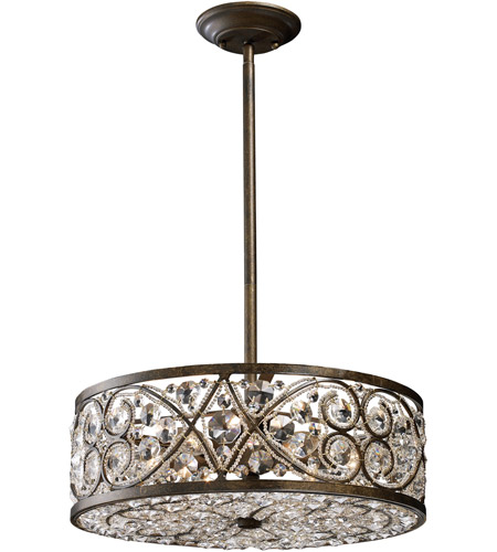 ELK Lighting Amherst 6 Light Pendant in Antique Bronze 11287/6