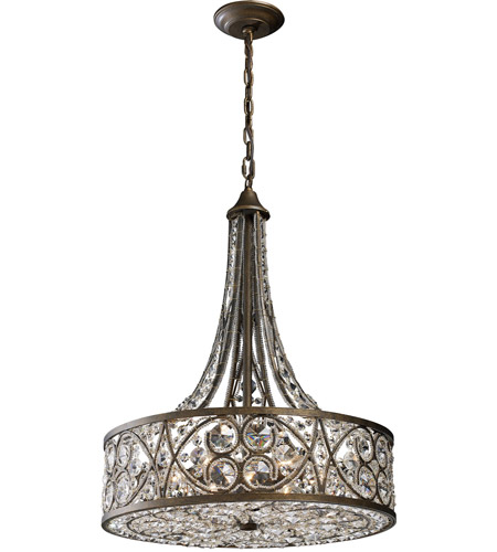 Elk 112886 amherst 6 light 20 inch antique bronze pendant ceiling light aloadofball Choice Image