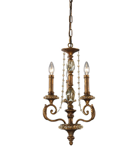 ELK Lighting Montavilla 3 Light Chandelier in Spanish Bronze 11293/3 photo