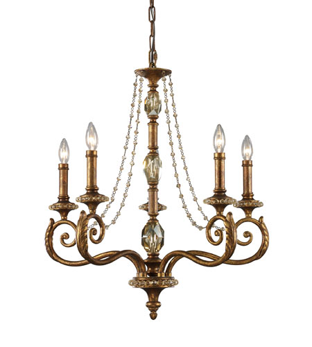 ELK Lighting Montavilla 5 Light Chandelier in Spanish Bronze 11294/5 photo