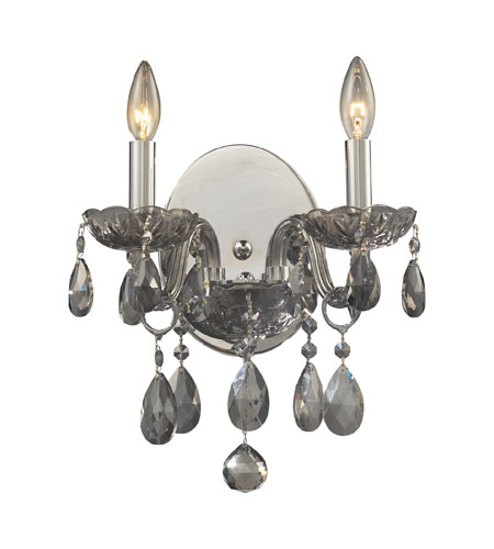 ELK Lighting Angelique 2 Light Sconce in Silver Smoke 11310/2 photo