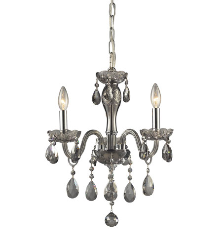 ELK Lighting Angelique 3 Light Chandelier in Silver Smoke 11311/3 photo