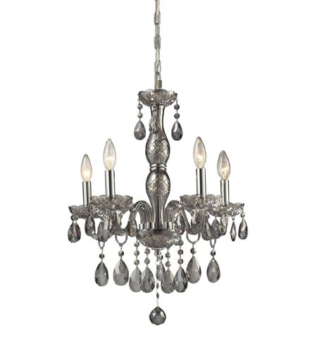 ELK Lighting Angelique 5 Light Chandelier in Silver Smoke 11312/5