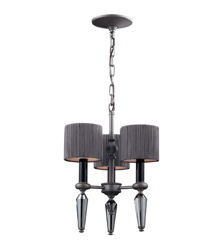 ELK Lighting Beaumont 3 Light Chandelier in Graphite 11322/3 photo