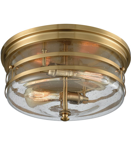 Elk Lighting Garriston: ELK 11325/2 Port O Connor 2 Light 14 Inch Satin Brass