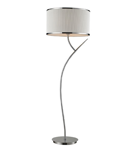 ELK Lighting Annika 1 Light Floor Lamp in Polished Chrome 11351/1 photo