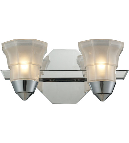 Polished Chrome Deco Bathroom Vanity Lights