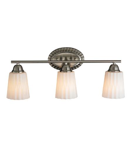 Elk Lighting Waverly 3 Light Bath Bar In Brushed Nickel 11407 3