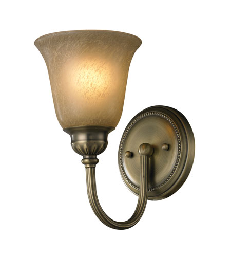 ELK 11423/1 Ventura 1 Light 6 inch Antique Brass Bath Bar Wall Light photo