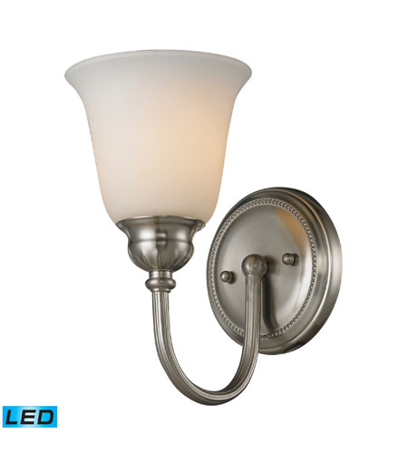 Elk lighting ventura 1 light bath bar in brushed nickel for Elk bathroom lighting
