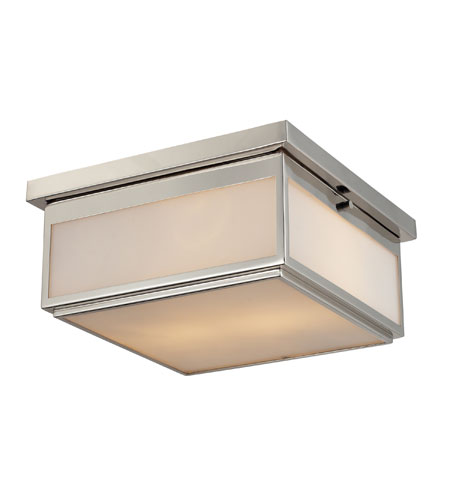 ELK Lighting Signature 2 Light Flush Mount in Polished Nickel 11444/2 photo