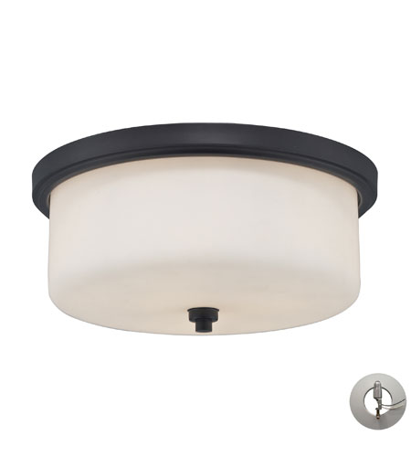 ELK Lighting Signature 3 Light Flush Mount in Aged Bronze 11477/3-LA photo