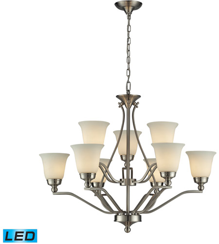 ELK 11504/6+3-LED Sullivan LED 33 inch Brushed Nickel Chandelier Ceiling Light photo