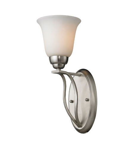 ELK Lighting Malaga 1 Light Wall Sconce in Brushed Nickel 11520/1 photo