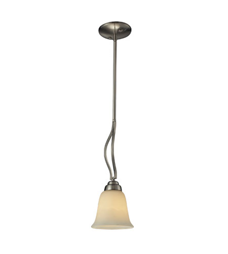 ELK Lighting Malaga 1 Light Pendant in Brushed Nickel 11521/1 photo