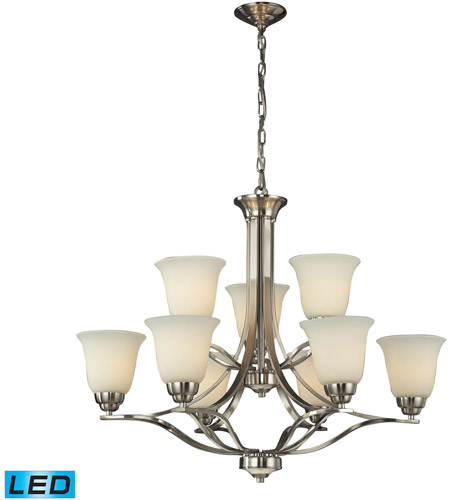 ELK 11524/6+3-LED Malaga LED 32 inch Brushed Nickel Chandelier Ceiling Light photo