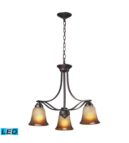 ELK Lighting Malaga 3 Light Chandelier in Aged Bronze 11532/3-LED photo