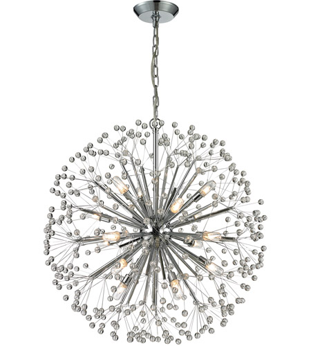Starburst 16 Light 27 Inch Polished Chrome Chandelier Ceiling