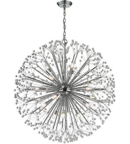 Elk 11547 19 Starburst Light 36 Inch Polished Chrome Chandelier Ceiling