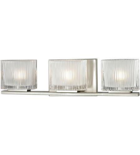 Elk Bathroom Lighting Fixtures elk 11632/3 chiseled glass 3 light 20 inch brushed nickel bath bar