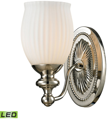 ELK 11640/1-LED Park Ridge LED 8 inch Polished Nickel Vanity Light Wall Light photo