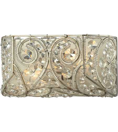 Elk Lighting Andalusia: ELK Lighting Andalusia 2 Light Bath Bar In Aged Silver 11690/2