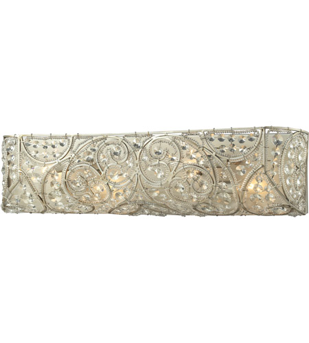 Elk Lighting Andalusia: ELK 11691/4 Andalusia 4 Light 24 Inch Aged Silver Bath Bar