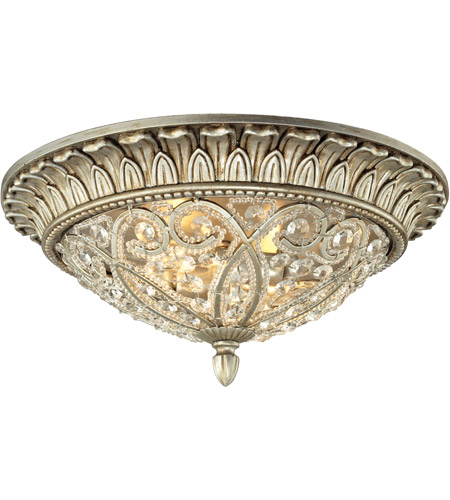 ELK 11693/2 Andalusia 2 Light 13 inch Aged Silver Flush Mount Ceiling Light photo
