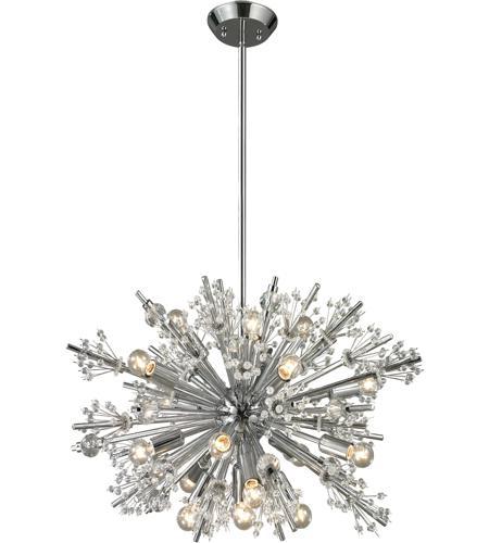 elk 11751 19 starburst 19 light 26 inch polished chrome. Black Bedroom Furniture Sets. Home Design Ideas