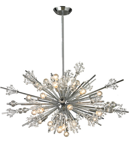 Starburst 24 Light 36 Inch Polished Chrome Chandelier Ceiling