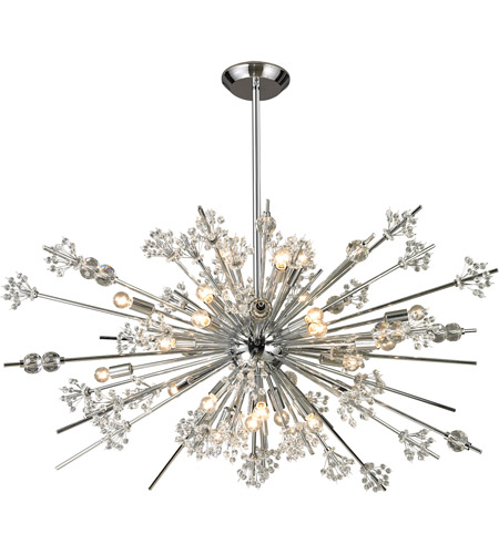 Starburst 29 Light 48 Inch Polished Chrome Chandelier Ceiling