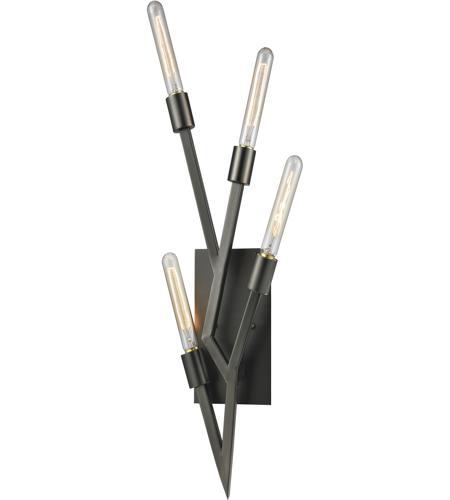 ELK 11856/4 Freeform 4 Light 9 inch Aged Black Nickel Wall Sconce Wall Light