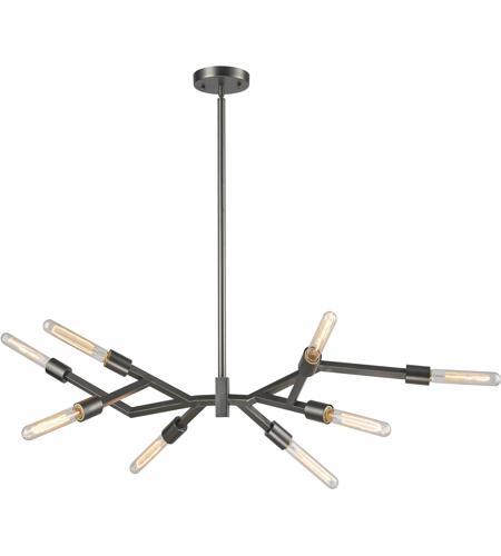 Freeform 8 Light 15 Inch Dark Graphite Chandelier Ceiling