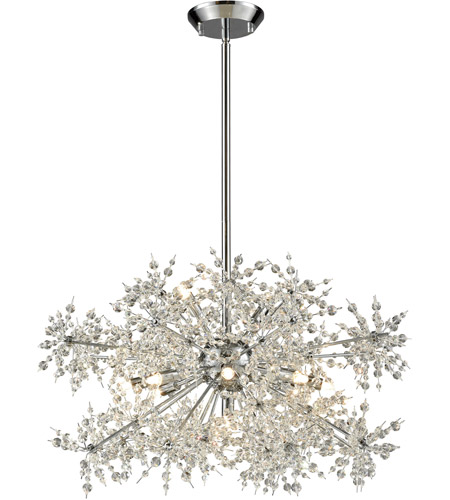 ELK 11894/11 Snowburst 11 Light 28 inch Polished Chrome Chandelier Ceiling Light photo