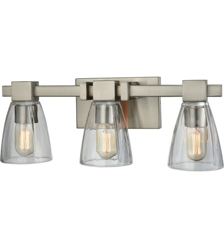 Elk Lighting Amazon: ELK 11982/3 Ensley 3 Light 20 Inch Satin Nickel Vanity