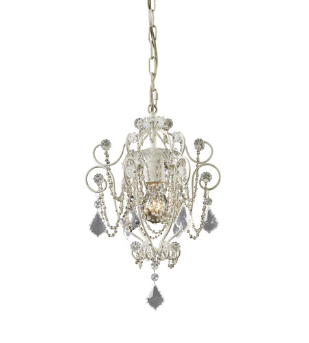 ELK 12017/1 Elise 1 Light 10 inch Antique White Chandelier Ceiling Light in Standard photo