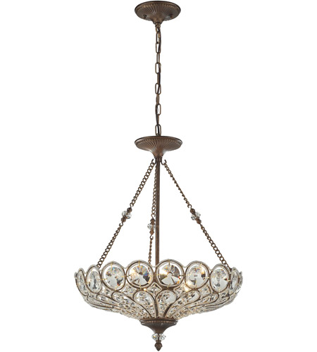 ELK 12024/5 Christina 5 Light 20 inch Mocha Pendant Ceiling Light photo